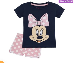 Disney Minnie Mouse 2 Piece Short Pyjama for Girls Toddlers