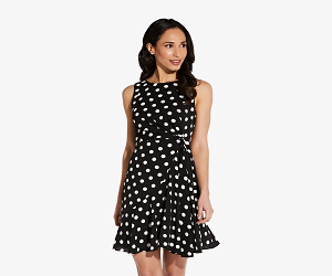 Dotted Fit & Flare Dress
