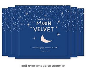 FaceTory Moon Velvet Moisturizing Cream With Jojoba Oil Sheet Mask