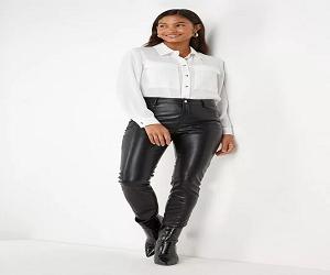 Faux Leather Jean