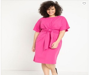Cross Front Flutter Sleeve Dress + 50% Off