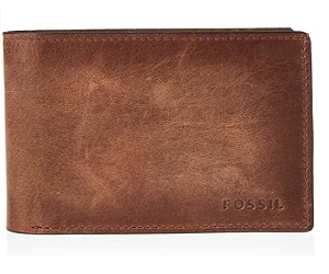 Fossil Men's Leather Bifold Wallet