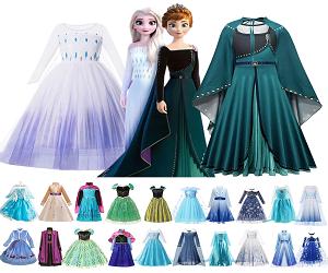 Frozen Anna Elsa Princess Dress