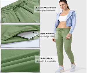 G Gradual Women's Joggers Pants with Zipper Pockets Tapered Running Sweatpants