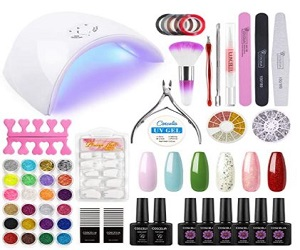 Gel Nail Polish Kit wih U V Light
