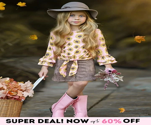 Girls Floral Double Ruffled