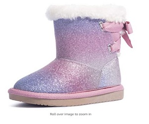 Girls Glitter Snow Boots