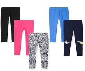Girls Leggings 5 Pack