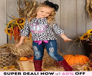 Girls Leopard Print Pumpkin Applique