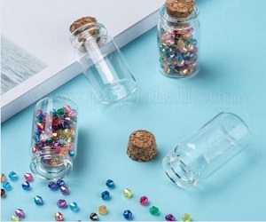 Glass Bottles Bead Containers