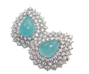 Grandidierite Sterling Silver Handmade Earrings