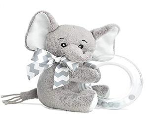 Gray Elephant Shaker Toy Ring Rattle