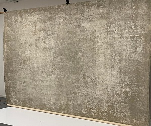 Grey Beige Textured Hand Painted Canvas