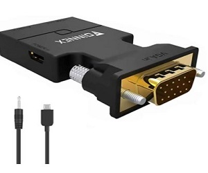 VGA to HDMI Adapter Converter with Audio + Extra 20% Off