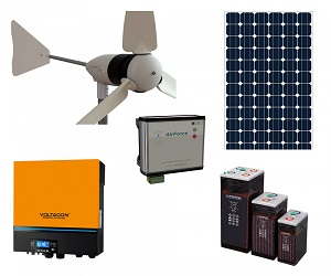 HYBRID WIND AND SOLAR OFF GRID KIT 5KW INVERTER WS5000LA