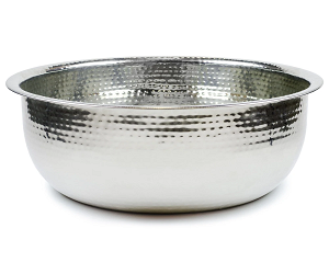 Hammered Stainless Steel Bowl