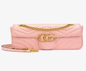 Hannah Flap Large Bag Faux Leather CG Logo Pink