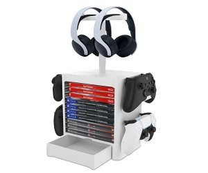 Headset And 10 Game Organize For PS5 PS4