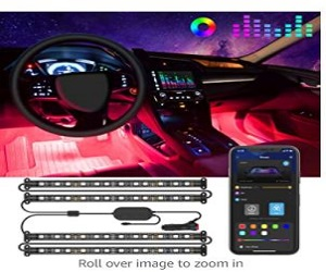 Music Car LED Lights with APP & IR Remote +  Extra 5% Off