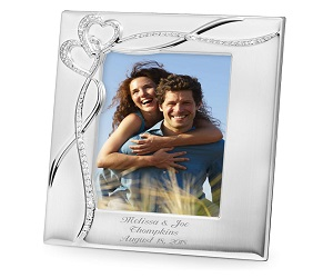 Personalized Intertwined Heart 5 x 7 Picture Frame