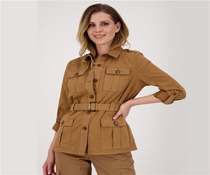 Monari Cargo Style Jacket Tan