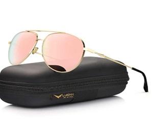 Aviator Sunglasses Polarized Mirror with Case