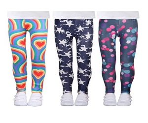 LUOUSE Girls Stretch Leggings Kids Soft Patterns Yoga Pants