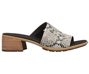 Laguna Shore Snake Block Heel Sandals