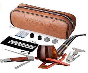 Leather Tobacco Pouch Pear Wood Pipe Accessories