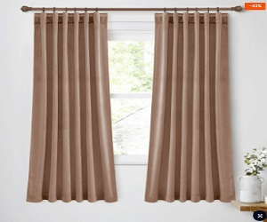 Light Blocking Velvet Curtains for Sliding Door