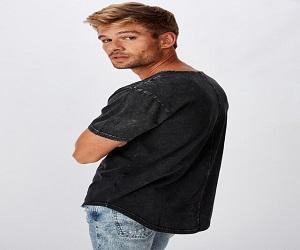 Longline Scoop Burnout T-Shirt