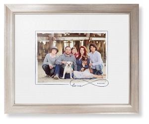 Love Infinity Border Framed Print