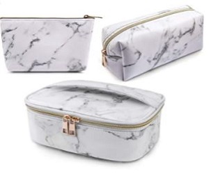 MAGEFY 3Pcs Makeup Bags Portable Travel Cosmetic Bag