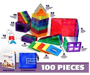 Playmags 3D Magnetic Blocks for Kids Set + Extra $5.00  Off