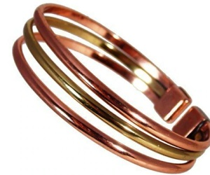 Magnetic Copper & Brass Triple Bracelet MCB054