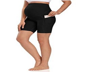 Foucome Women's Maternity Over Active Lounge Comfy Yoga Short