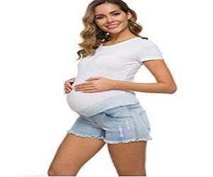 Waist Maternity Shorts