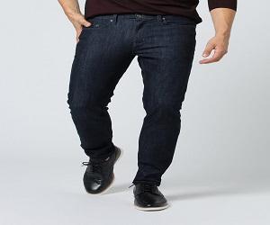 Mens Blue Slim Fit Stretch Jeans