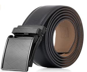 Mens Genuine Leather Ratchet Dress Belt