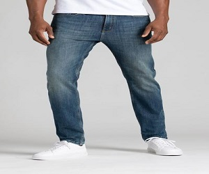 Mens Medium Wash Slim Fit Stretch Jeans