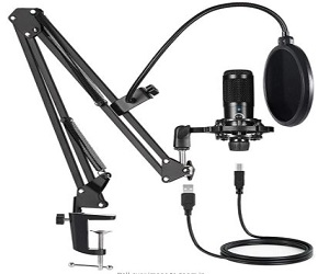 USB Condenser Microphone Bundle Kit  +  Extra $12 Off