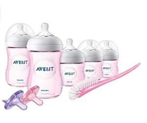 Baby Bottle Pink Gift Set,