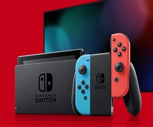 Nintendo Switch With Neon Blue And Neon Red Joy Con HAC 001 (-01)