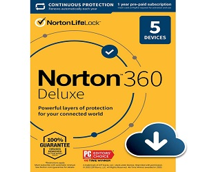 Norton 360 Antivirus software For 5 Devices