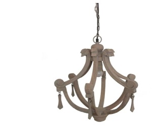 Pacific Lifestyle Lana Large Wood Chandelier