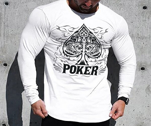 Poker Print T-shirt