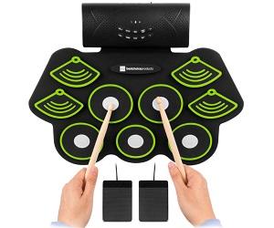 Portable Electronic Drum Practice Pad Kit