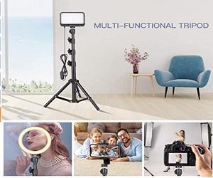 Portable Photography Lighting With Adjustable Tripod Stand