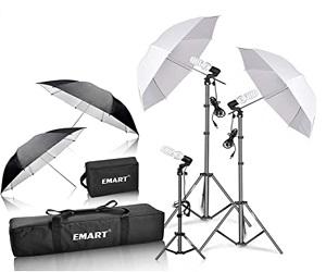 Portrait Studio Umbrella Lighting Kit
