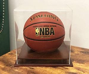 Protected Acrylic Basketball Display Stand